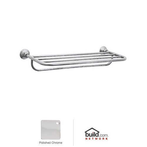 Rohl ROT10APC 23-1/2-Inch W by 11-Inch D Country Bath Hotel Style Towel Rack in Polished Chrome by Rohl