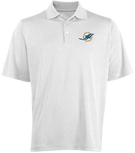Majestic Athletic Miami Dolphins NFL Moist Management Birdseye Mens Polo Shirt Big & Tall Sizes (MT) - Miami Dolphins Golf Shirt