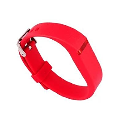 Replacement Wrist Band Buckle for Fitbit Flex - Code001 red