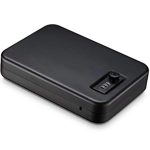 Moutec Pistol Safe, Portable Quick Access Gun Safe,Handgun Lock Box for Cars Home Travel