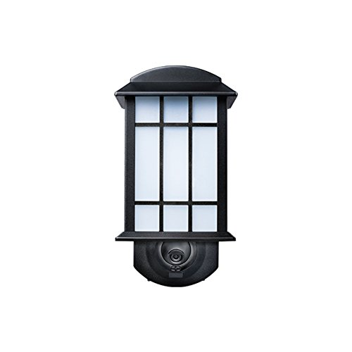 Amazon com maximus video security camera and outdoor light craftsman black compatible with alexa home improvement
