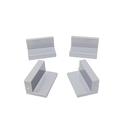 Lego Parts: Panel 1 x 2 x 1 (PACK of 4 - LBGray) (Lego Star Wars 4501)