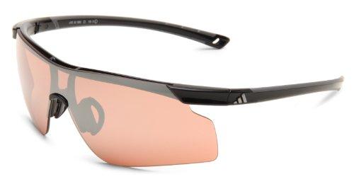 adidas Adizero Tempo L A185 6050 Shield Sunglasses,Black & Grey Frame/LST Active Silver Lens,One - Adizero Sunglasses
