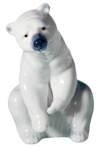 Lladró Bear, White Figurine