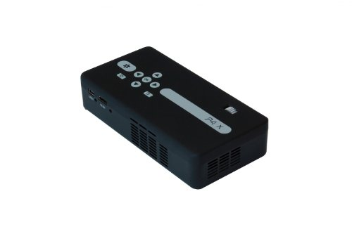 AAXA P4-X LED Portable Pico Projector, 125 Lumens, Li-Ion battery, Media Player, 20,000 Hour LED Life, Pocket Size, DLP
