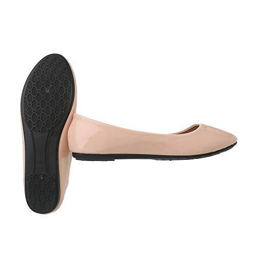 Plat Hellrosa Ital Ballerines design Chaussures 3c Classiques 7 Femme RqqZvpI