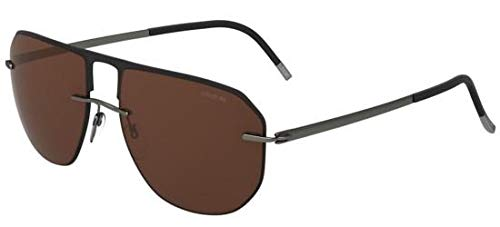 Silhouette Gafas de Sol ACCENT SHADES 8704 BLACK/DARK BROWN ...