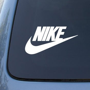 Nike vinyl car 6 decal sticker 1913 vinyl color white