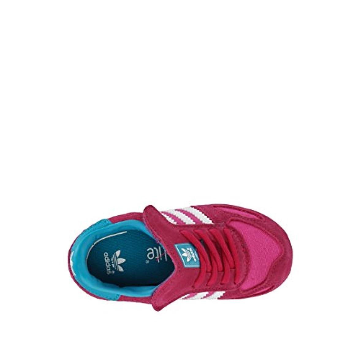 Adidas La Trainer K Bambina Pelle Scamosciata Sneaker Bassa
