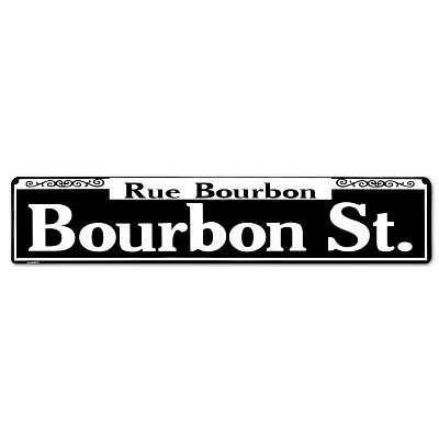 - MMNGT Rue Bourbon Street Tin Sign TIN Sign 7.8X11.8 INCH