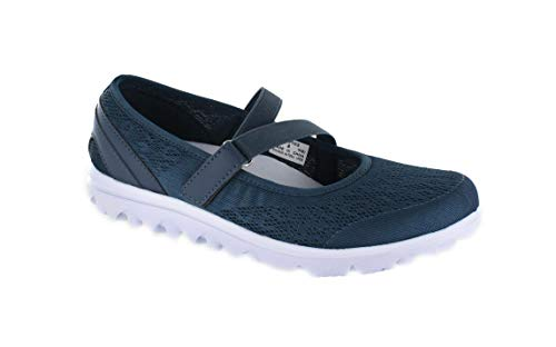- Propet Women's TravelActiv Mary Jane Flat, Navy, 8.5 X-Wide
