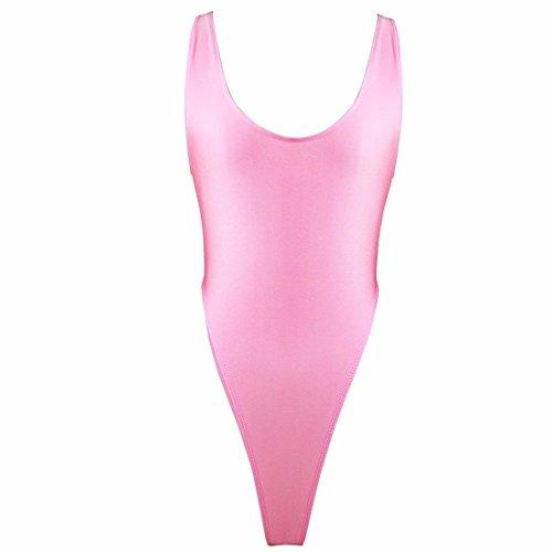 FEESHOW Women's One Piece High Cut Swimsuit Bodysuit Leotard Top