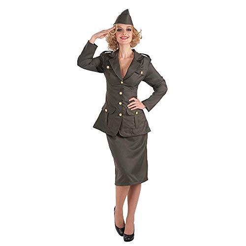 Forum Novelties Women's WWII Army Gal Costume, Green, Standard