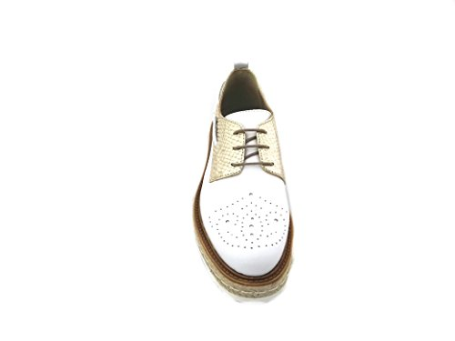 ANNA FIDANZA Mi0345ap - Zapatos de cordones de Piel para mujer dorado