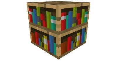 Minecraft Bookshelf Paper Craft