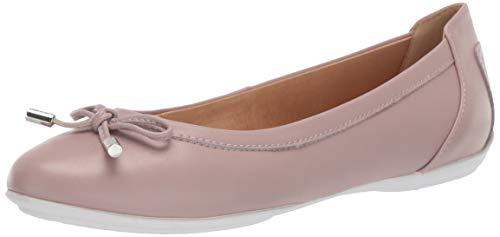 Geox Women's Charlene 27 Round Toe Ballet Flat with Bow, Dark Pink, 37 Medium EU (7 US) (Geox Womens Flat)