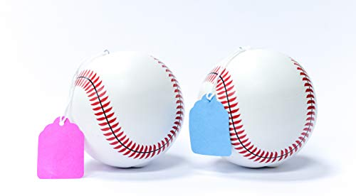 TUR Party Supplies 2 PACK EXTRA POWDER Gender Reveal Baseballs (Pink and Blue Color) for Sex Reveal Party and a GREAT BLAST! by TUR Party Supplies