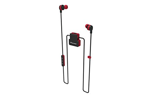 Pioneer Active In-Ear Wireless Headphones with Integrated Clip, Red SE-CL5BT(R)