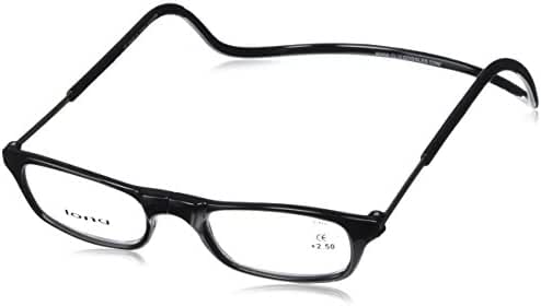 Clic Magnetic Reading Glasses Black-Long