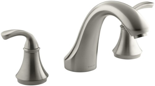 KOHLER K-T10278-4-BN Forte Bath- or Deck-Mount Rim Valve Trim, Vibrant Brushed Nickel