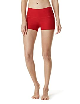 "Tm-fys01-red_small Tesla Shorts 3"" Bike Running Yoga W Hidden Pockets Fys01 4"