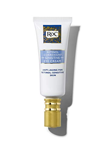 RoC Retinol Correxion Anti-Aging Eye Cream for Sensitive Skin, Anti-Wrinkle Treatment with milder retinol formula that helps condition skin to retinoids.5 fl. oz (Best Drugstore Eye Cream For Dark Circles And Puffiness)