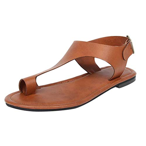 ONLY TOP Sandals for Women Platform, Women's Flip Flop Sandal Comfort Open Toe Thong Slid Slippers Brown