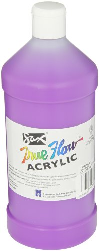 Sax True Flow Heavy Bodied Acrylic Paint - Quart - Violet (Violet Acrylic Paint)