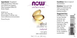 NOW Solutions E-Oil 23,000 IU,1-Ounce