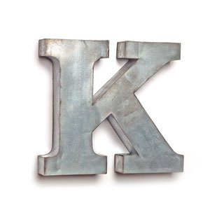 The Country House Collection Tin Letters (K) (K Letter Metal)