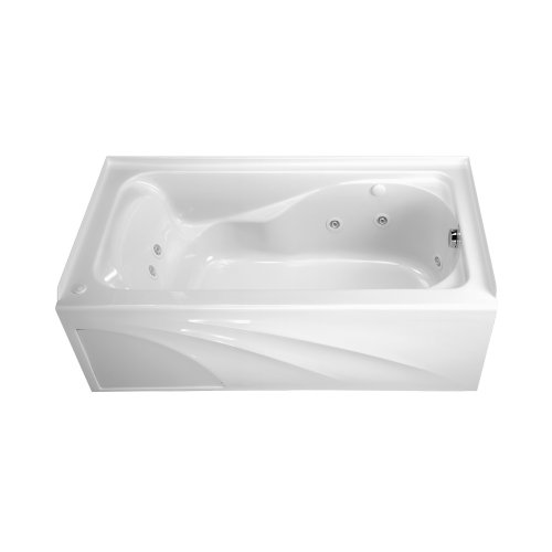 (American Standard 2776118W.020 Cadet 5-Feet by 32-Inch Whirlpool with Hydro Massage System-I and Integral Apron, White)