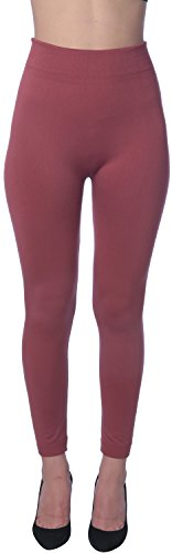 Active Club Women's Fleece Lined Leggings - Seamless High Waisted soft Brushed,2X/3X,Black/Navy/Dk Grey/Olive/Rose/Brown by Active Club (Image #4)