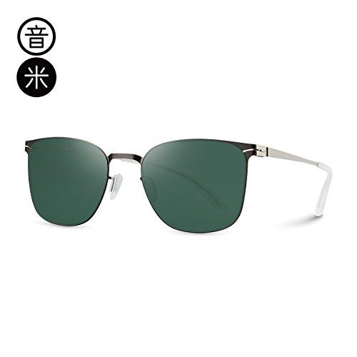 Uv Green Llztyj Plata Viento Gafas Marco Decoración Conducción Film Larga La De Los Hombres Sol Azul Espejo Silver Frame Cara 1qt6U4q