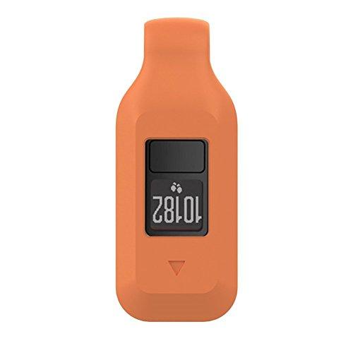 Bemodst® Schutzhülle für Garmin Vivofit 3/Vivofit JR mit Clip-Halterung, Silikongummi magnetischer Clip Orange