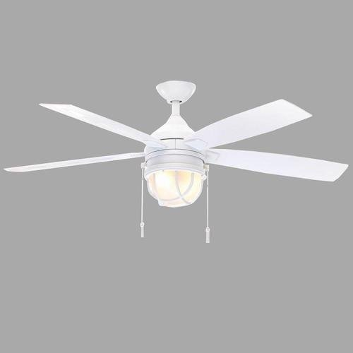 Hampton Bay Seaport 52 In. Indoor/outdoor White Ceiling Fan