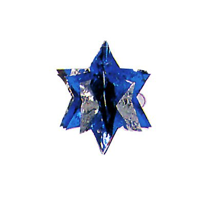 Hanukkah Decoration - Blue and Silver Star of David - 12 Per Order]()