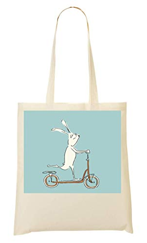 Bunny Illustration Scooter tout Sac Fourre Rabbit Provisions À q6PTq8pwx