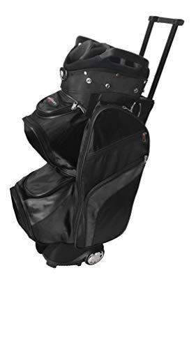 CaddyDaddy Roadrunner Wheeled Cart Golf Bag (Black/Grey)