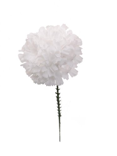100-carnations-5-white-artificial-silk-flower-pick-multiple-colors-available