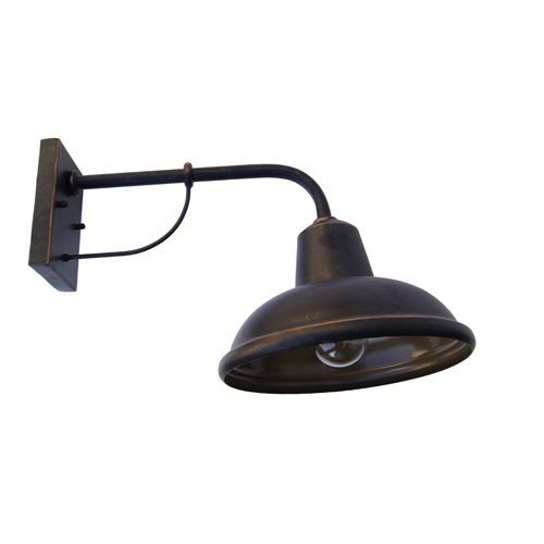 Y Decor EL24301-1ORB Modern, Transitional, Traditional, Rustic 1 Light Rustic Industrial Exterior Outdoor Light Fixture Oil Rubbed Bronze By Y Décor, , Oil Rubbed Bronze, Brown (Wall Lighting Rustic)