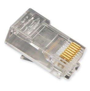 Mod Tel Plugs Oval Solid 8P8C 100PK Mod Tel Plugs Oval Solid 8P8C 100PK