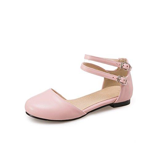 Tobillo Tacón De Pink Al Bajo Sandalias amp;x Qin Mujeres Tq75t0nw