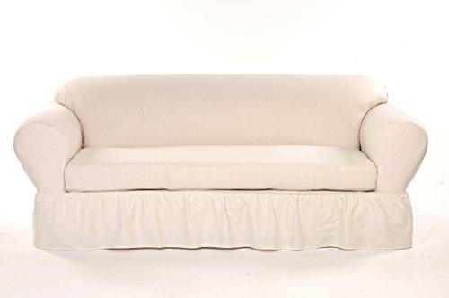 Classic Slipcovers WC102PRP 2 Piece Ruffled Sofa Slipcover,