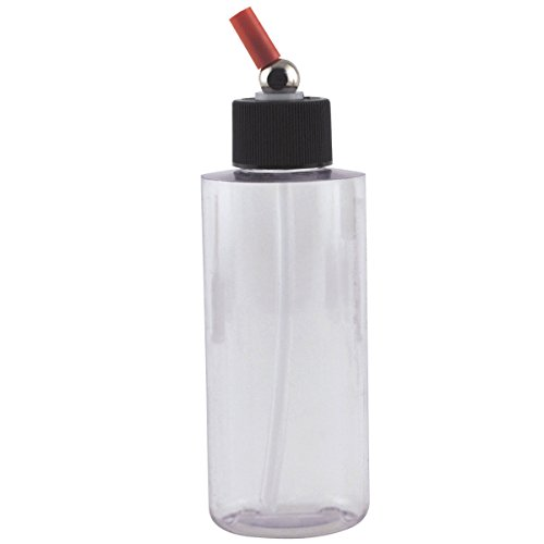 Iwata Clear Cylinder Bottles with Caps 4 oz. clear no-rust (Cylinder Airbrush Bottle)