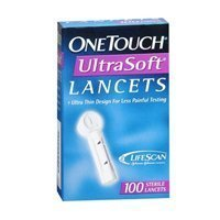 Ultra-thin design for less painful testing. - Onetouch Onetouch Ultrasoft Lancets