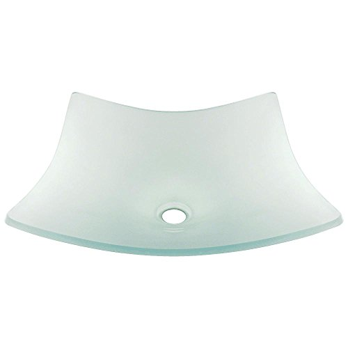 Glass Square Vessel Frosted - 622 Frosted Glass Vessel Bathroom Sink