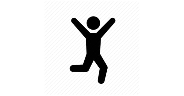 Vinyl Wall Decal Sports Icon Running Jogging Hiking Stickman