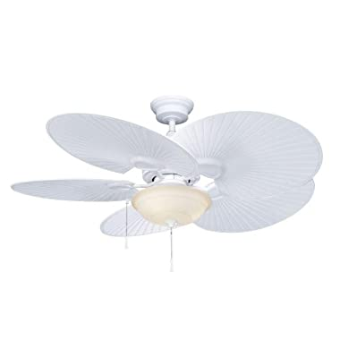 Hampton bay tropical ceiling fan compare prices on gosale indooroutdoor matte white ceiling fan mozeypictures Image collections