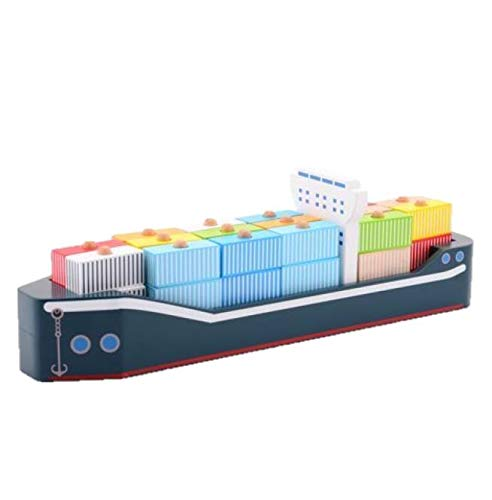 Jouéco 80067 Containerschiff, Mehrfarbig