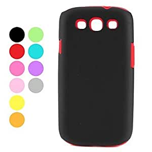 LIMME ships in 48 hours Soft Silicone Case Cover For Samsung Galaxy S3 I9300 (Assorted Colors) , Black